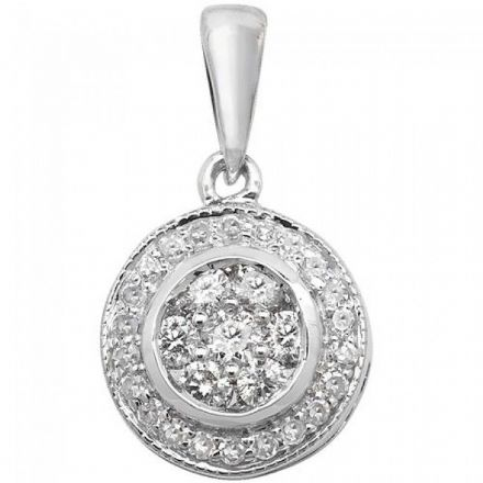 Diamond Pendant Set Around, PD139W